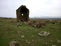 Chiesa di Zoravar in Armenia Fotografia Stock