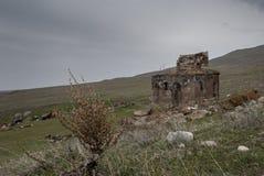 Chiesa di Zoravar del san in Yeghvard Armenia Fotografia Stock