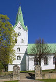Chiesa in Dobele, Lettonia fotografia stock
