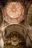 Chiesa dorata Messico di Valencia dell'altare della cupola Fotografia Stock Libera da Diritti