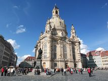 Chiesa a Dresda immagini stock