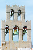 Chiesa e campane su Patmos immagini stock