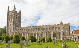 Chiesa e cimitero inglesi Fotografia Stock