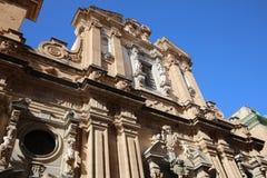 Chiesa e Collegio dei Gesuiti Church in Trapani. Sicily. Italy Stock Photos