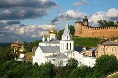 Chiesa e Cremlino Nižnij Novgorod Fotografia Stock