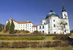 Chiesa e monastero di pellegrinaggio in Krtiny, repubblica Ceca Immagine Stock Libera da Diritti