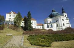 Chiesa e monastero di pellegrinaggio in Krtiny, repubblica Ceca Fotografia Stock
