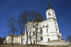 Chiesa e monastero di pellegrinaggio in Krtiny, repubblica Ceca Immagini Stock
