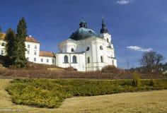 Chiesa e monastero di pellegrinaggio in Krtiny, repubblica Ceca Fotografie Stock Libere da Diritti