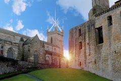 Chiesa e palazzo storici Immagini Stock