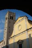 Chiesa e torretta di Motovun Fotografia Stock