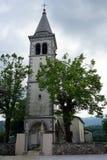 Chiesa ed alberi Fotografia Stock