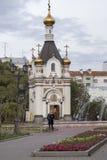 Chiesa a Ekaterinburg, Federazione Russa fotografie stock libere da diritti