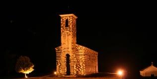 Chiesa entro la notte Fotografia Stock Libera da Diritti