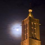 Chiesa entro la notte Fotografia Stock