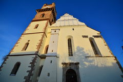 Chiesa evangelica da Bistrita Fotografie Stock Libere da Diritti