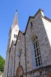 Chiesa Evangelical - Hallstatt, Salzkammergut, Aus Fotografia Stock