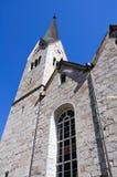 Chiesa Evangelical - Hallstatt, Salzkammergut, Aus Immagini Stock