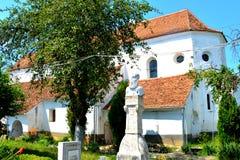 Chiesa evanghelic del sassone anziano in Halmeag la Transilvania Fotografie Stock Libere da Diritti