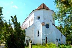 Chiesa evanghelic del sassone anziano in Halmeag la Transilvania Immagine Stock Libera da Diritti