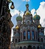 Chiesa famosa del salvatore sul sangue in San Pietroburgo, Russia Spilled immagine stock