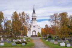 Chiesa Finnmark di Alta Fotografia Stock