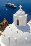 Chiesa in Fira, Santorini Fotografia Stock Libera da Diritti