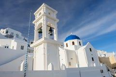 Chiesa in Firostefani, Santorini Fotografia Stock