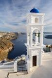 Chiesa in Firostefani, Santorini Immagine Stock Libera da Diritti