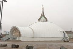 Chiesa a forma di dell'iglù nell'Artide fotografia stock