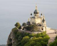 Chiesa in Foros. La Crimea fotografia stock libera da diritti