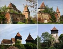 Chiesa fortificata - Alma Vii (collage) Immagini Stock Libere da Diritti