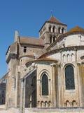 Chiesa fortificata dell'abbazia di Jouin del san, Francia Immagine Stock Libera da Diritti