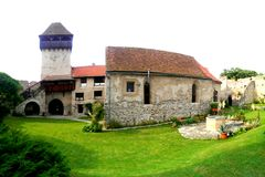 Chiesa fortificata di Calnic fotografia stock libera da diritti