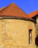 Chiesa fortificata medievale del sassone in Calnic, la Transilvania Immagini Stock