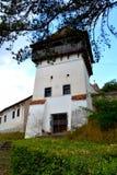 Chiesa fortificata medievale del sassone in Ungra, la Transilvania Fotografie Stock Libere da Diritti