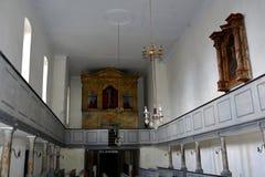 Chiesa fortificata medievale del sassone in Ungra, la Transilvania Fotografia Stock