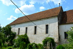 Chiesa fortificata medievale in Ungra, la Transilvania Fotografie Stock