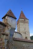 Chiesa fortificata in Mosna Fotografia Stock