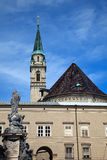 Chiesa Franciscan (Franziskanerkirche) a Salisburgo fotografia stock