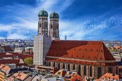Chiesa Frauenkirche, Baviera, Germania della cattedrale di Monaco di Baviera Fotografie Stock Libere da Diritti