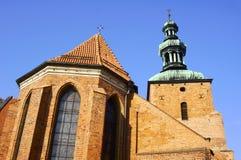Chiesa gotica con la torretta Fotografia Stock