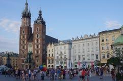 Chiesa gotica del mattone in Polonia Fotografia Stock Libera da Diritti