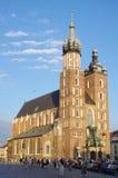 Chiesa gotica del mattone in Polonia Fotografia Stock