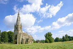Chiesa gotica vittoriana fotografie stock