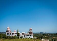 Chiesa greca bianca Fotografia Stock