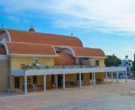 Chiesa greca in porto di Ayia Napa Immagini Stock Libere da Diritti