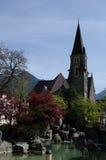 Chiesa iconica in Svizzera immagini stock