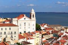Chiesa Igreja de Santo Estevao a Lisbona Fotografia Stock Libera da Diritti