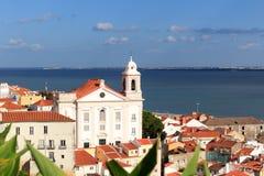 Chiesa Igreja de Santo Estevao a Lisbona Immagine Stock